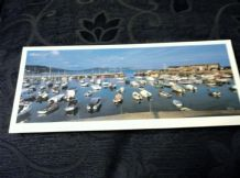 "PANORAMIC GLOSS PHOTO POSTCARD LYME REGIS SUMMER DAY DORSET J SALMON 9"" X 3.75"""
